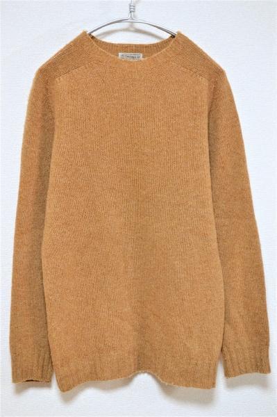 クルーネック シェットランドニット セーター