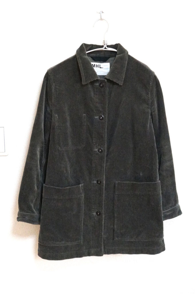 2016AW/ヘビーコーデュロイ チェンジボタン ステンカラー コート ジャケット