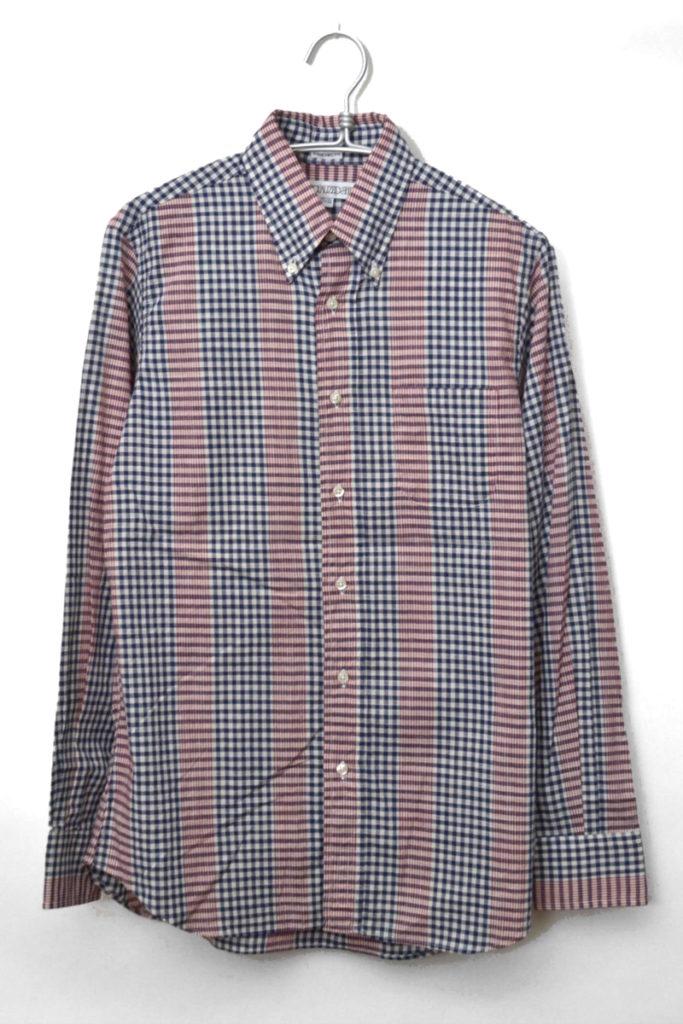 STANDARD FIT/ギンガムチェック切替 BDシャツ