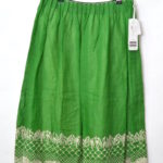 2018SS/ ananas リネン 刺繍スカート
