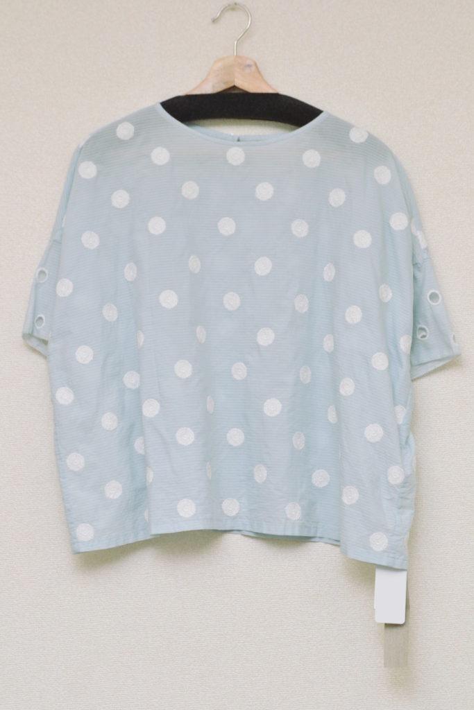 laundry/vapor コットンシルク 刺繍 ブラウス