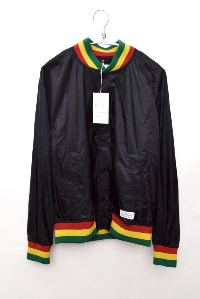 HIGHTIMES RASTA STRIPED RIB VIRSITY JACKET ヴァ―シティージャケット