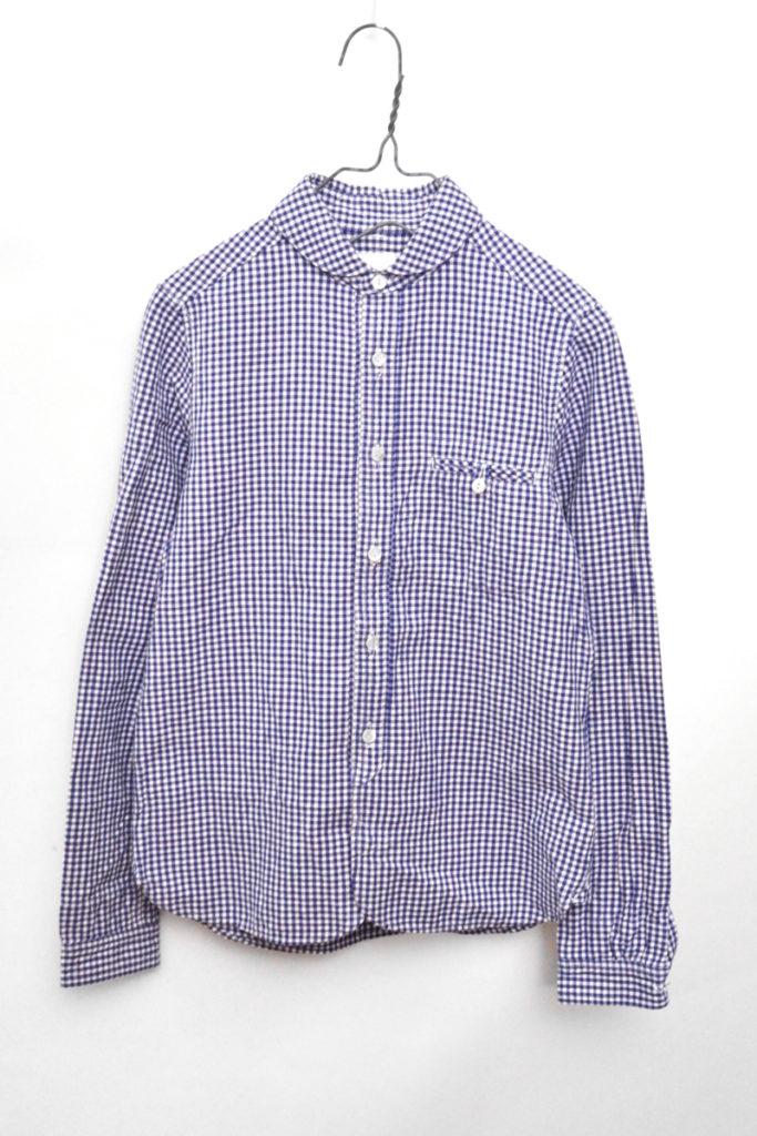 sunset gingham work shirts サンセット コットンリネン ギンガムチェックシャツ