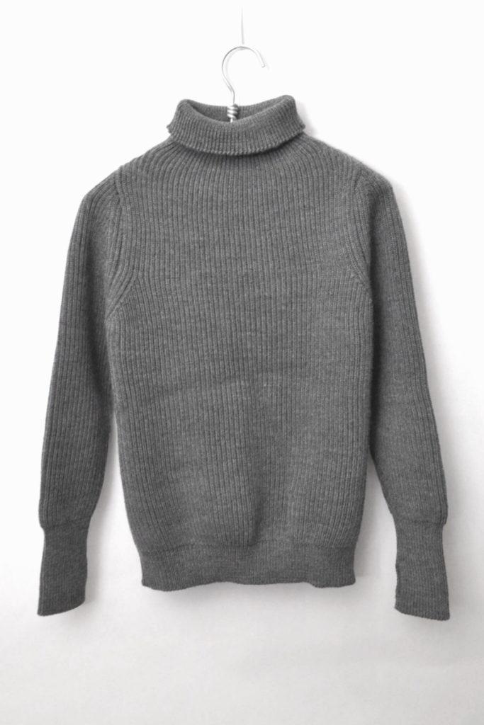 メリノウール 5ゲージ タートルネックニット セーター