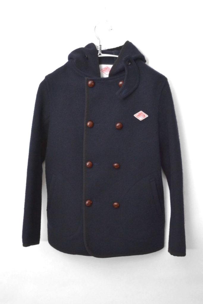 ウールモッサ ダブルボタンフードジャケット コート