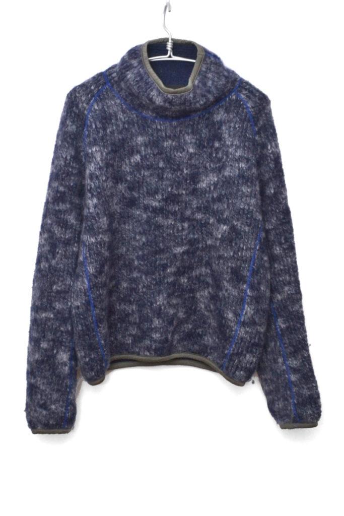 2017AW/ 撚り杢ウール起毛 プルオーバー ウールニット セーター