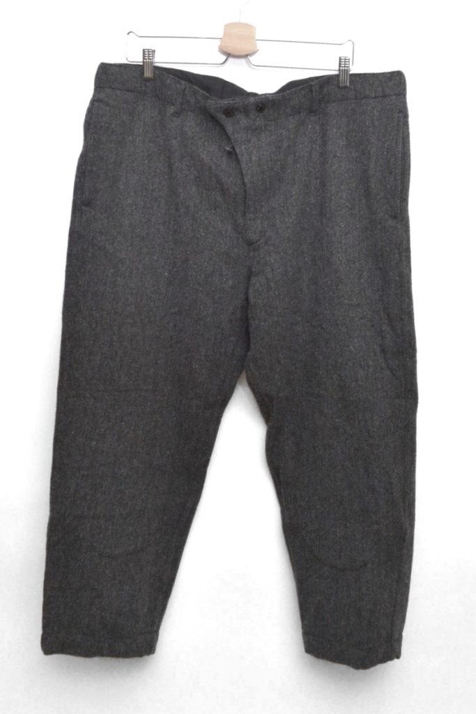 Cinch Pant Gray Herringbone ヘリンボーンツイード シンチパンツ