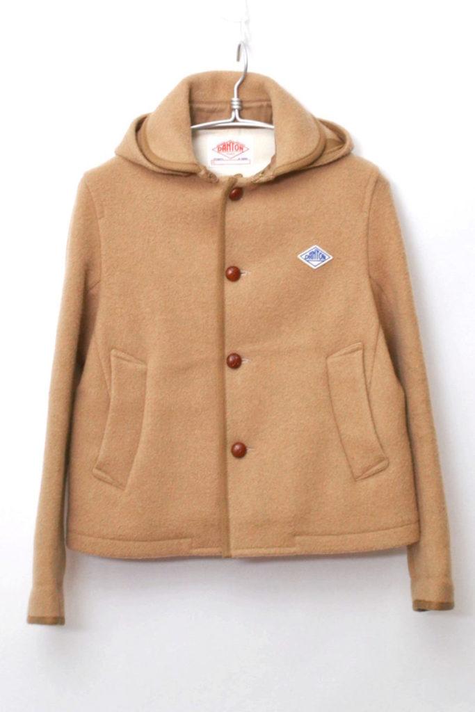 ウールモッサフーデッドジャケット