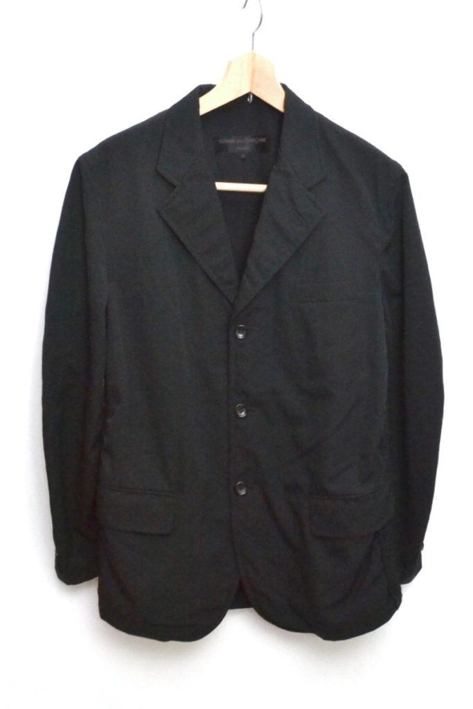 AD2002/ ウール ニット切替 テーラードジャケット