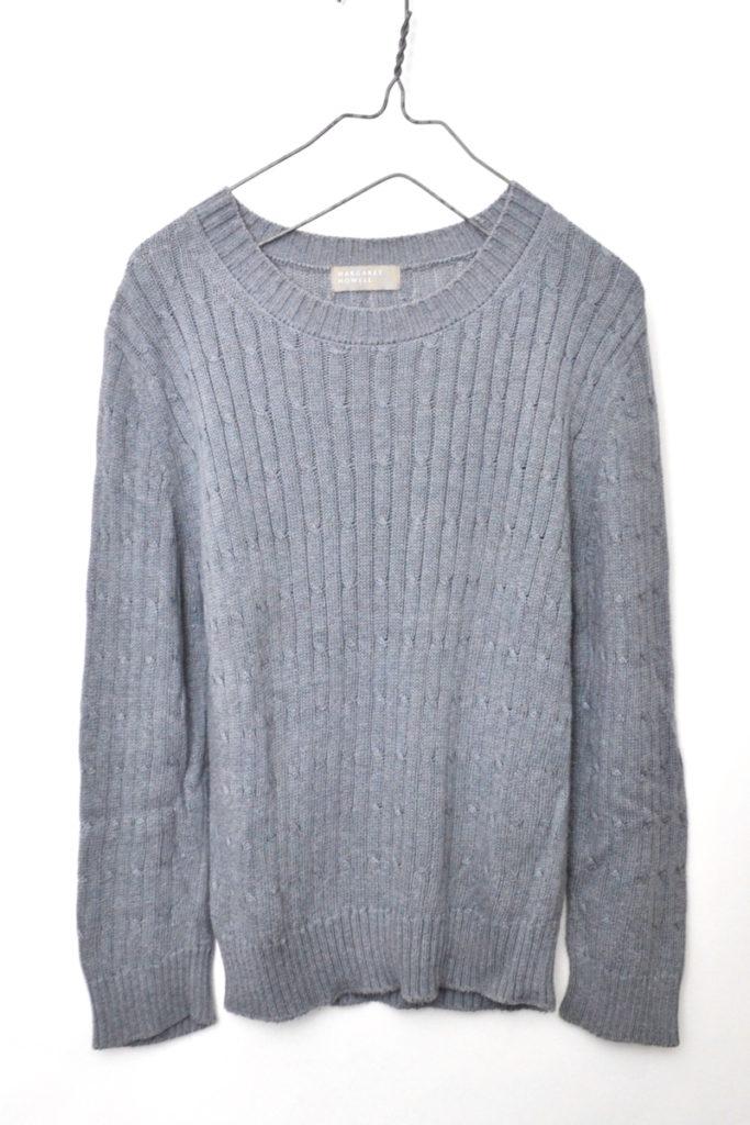 2015/コットン ケーブル編み ミドルゲージ ニット セーター