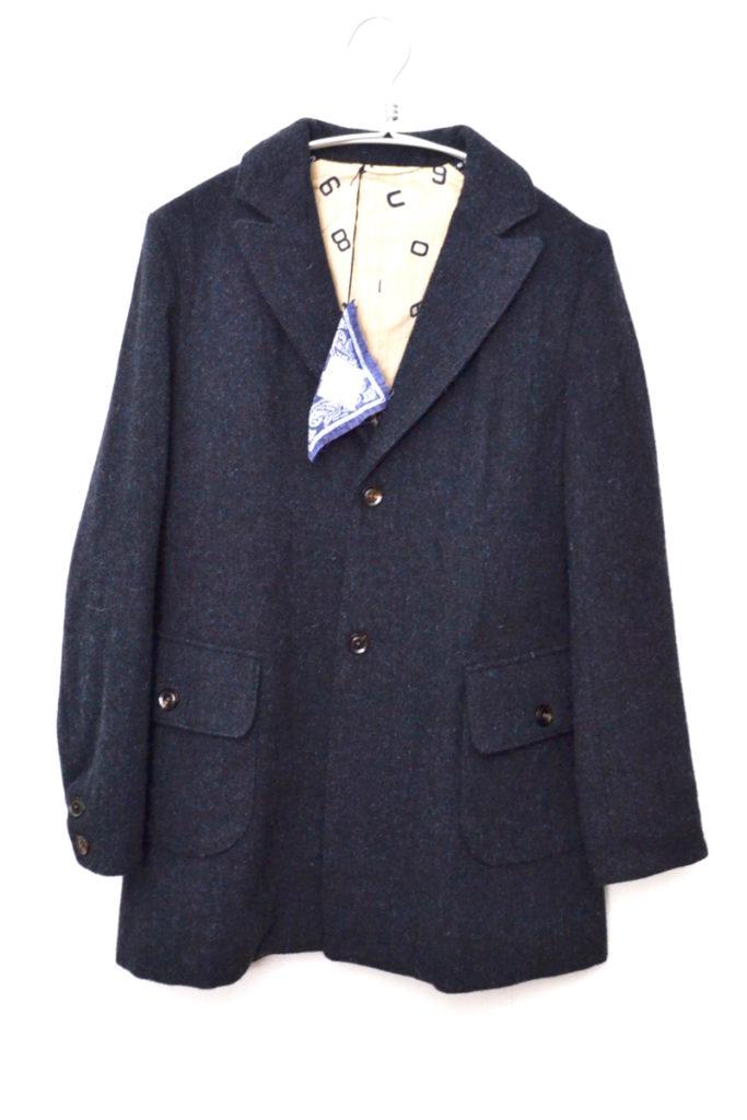 ウールツイード ベルテッドコート