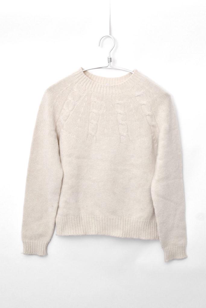 ウールキャメル ケーブル編みニット セーターの買取実績画像