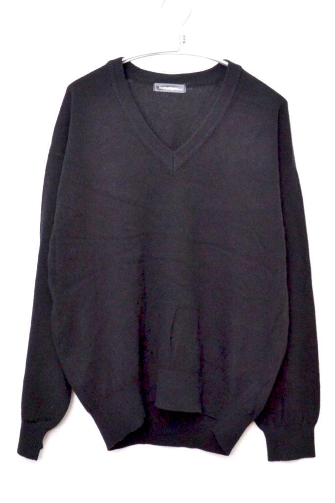 1980s 筆タグ Vネック オーバーサイズニット セーター