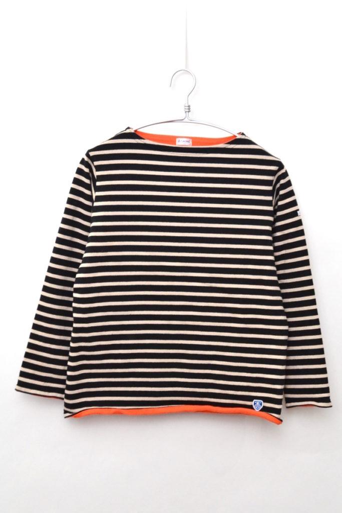 2018AW/ フリースライニング コットンロード ボーダーバスクシャツ