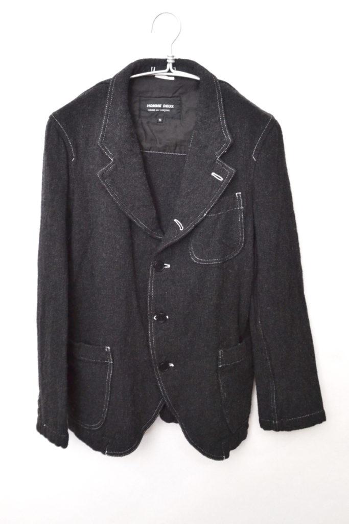 AD2014 14AW/ウールポリツイード 3Bジャケット