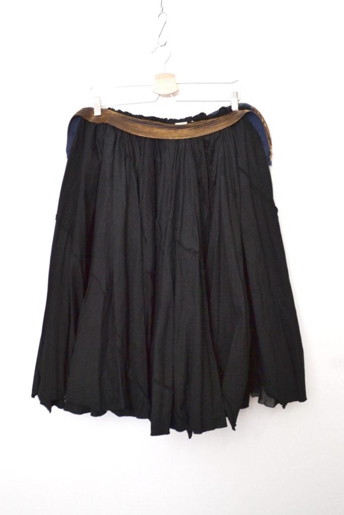 AD2004 05SS/7連ジップ パッチワーク ビッグギャザースカート