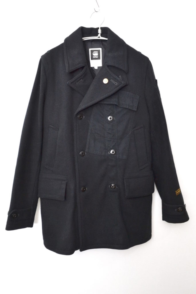 FLEET CARRIER WOOL COAT ウールコットン切替 Pコート