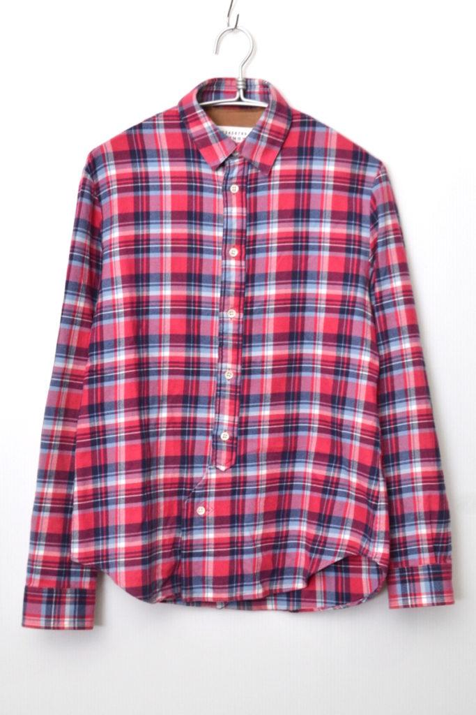 2016SS/ レザー エルボーパッチ フランネルシャツ