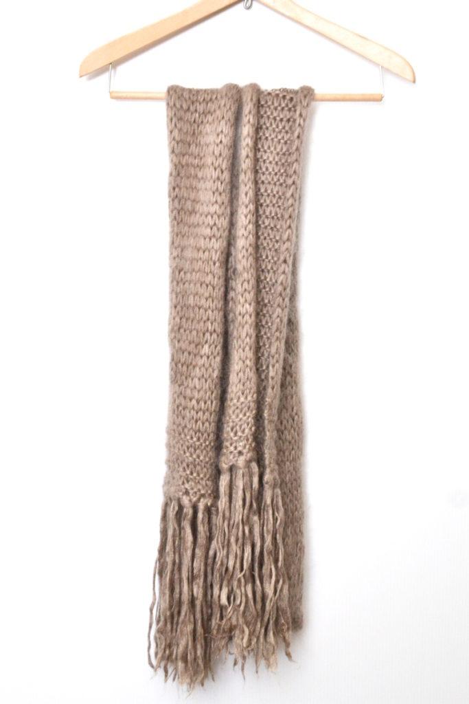 フリンジ ざっくり編み マフラー ストール