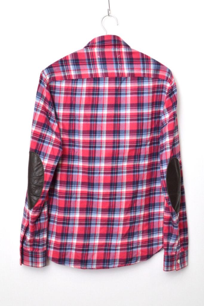 2016SS/ レザー エルボーパッチ フランネルシャツの買取実績画像