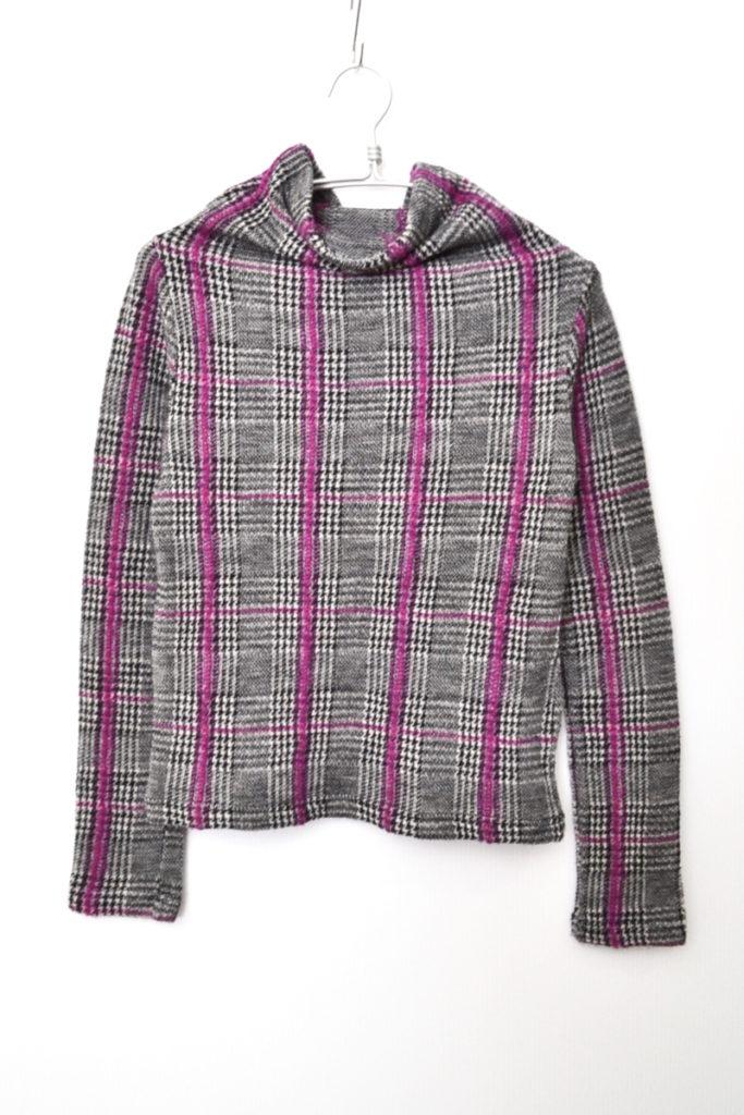 2014AW/ウォッシュツイード ハイネックニット カットソー セーター