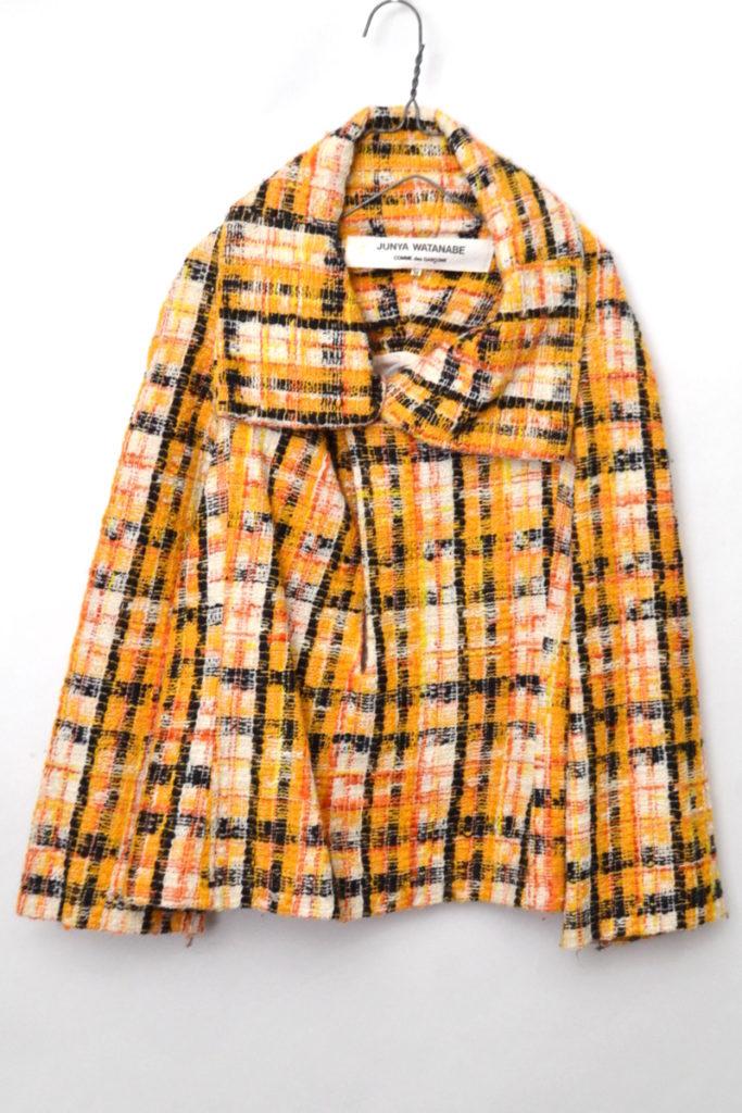 AD2001 01AW/ ツイード プルオーバー ショートコート ジャケット