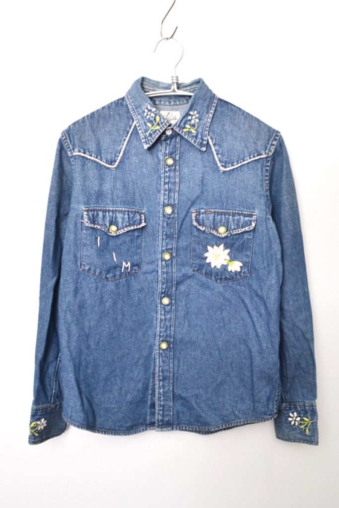 デニム 刺繍 ウエスタンシャツ