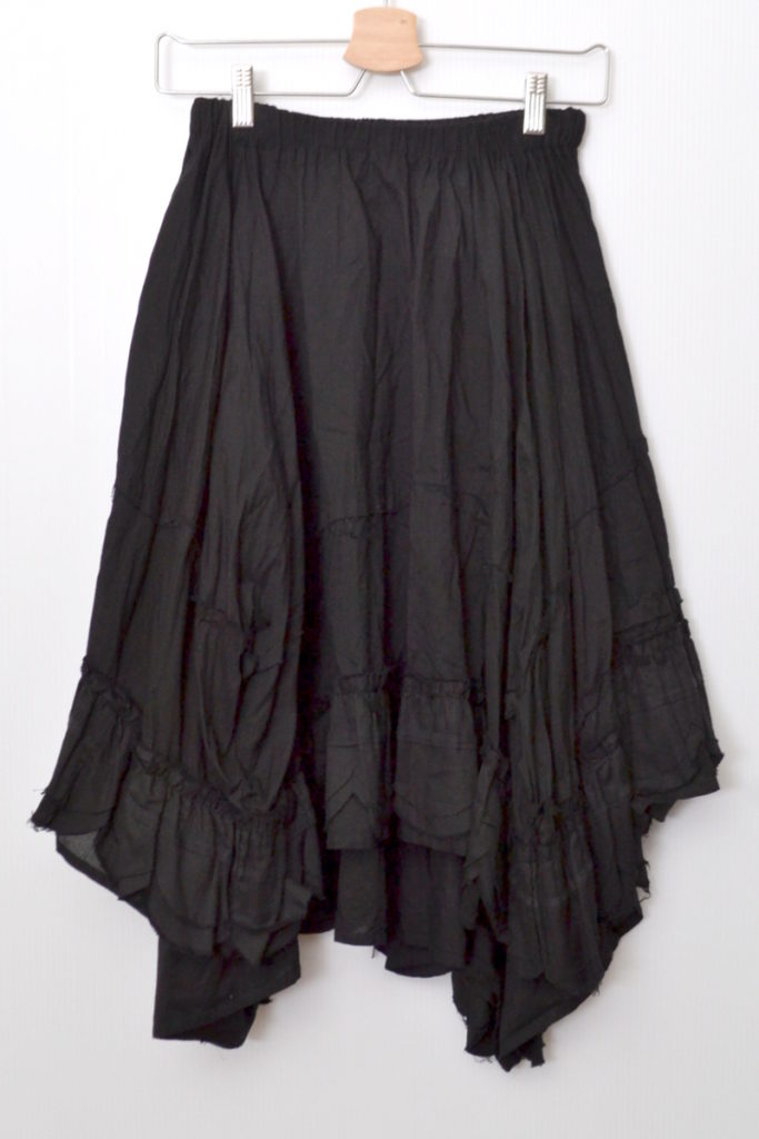 AD2007/ 裾切替 コットン サーキュラースカート