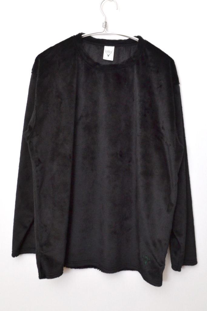 Side Slit Crew Neck Shirt *Micro Fleece マイクロフリース クルーネックシャツ