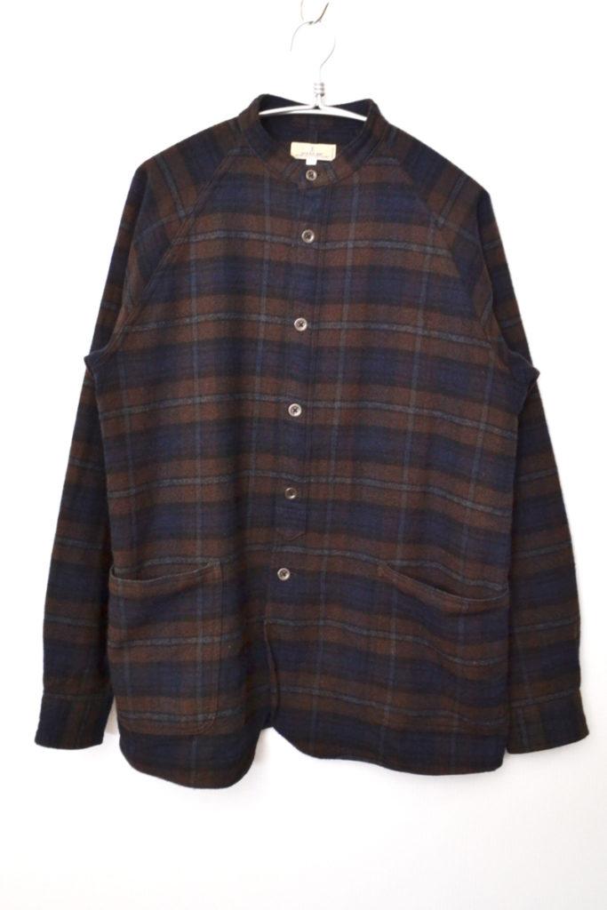 2019AW/ チェック スタンドカラー シャツ ジャケット