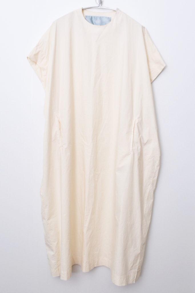 コットン ストレッチ ワイド スリーブレス シャツ ワンピース