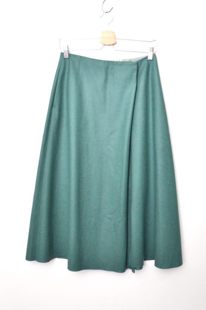 2018AW/ハード 圧縮 ウール フレア スカート