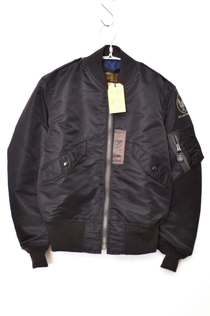 WILLIAM GIBSON COLLECTION BLACK L-2B REGULAR SOLID MODEL フライトジャケット