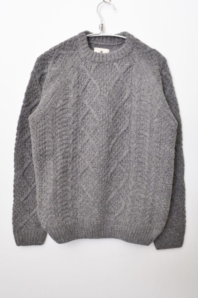 2018AW/Alpaca Knit Pullover アルパカニット ケーブル編みプルオーバーセーター