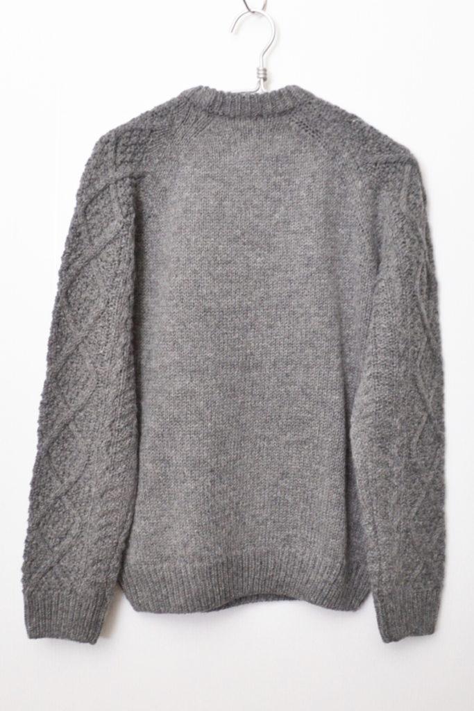 2018AW/Alpaca Knit Pullover アルパカニット ケーブル編みプルオーバーセーターの買取実績画像