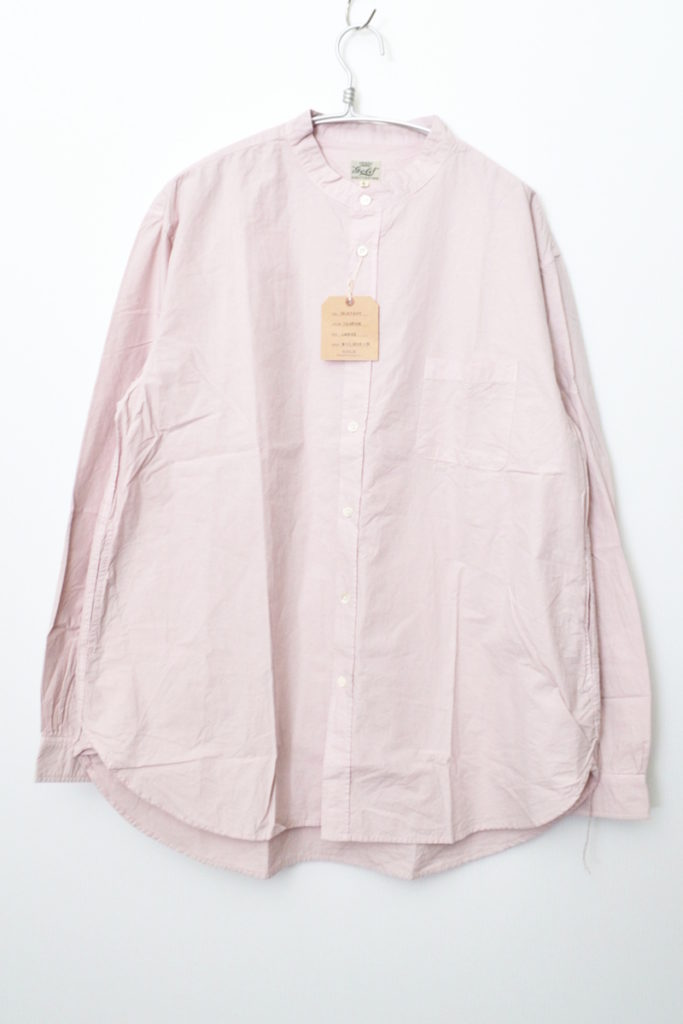 COTTON BROAD BAND COLLAR A-LINE SHIRT バンドカラー Aラインシャツ