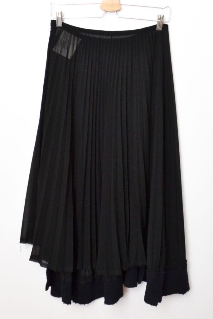 02AW/ シースルー プリーツ 裾リブ スカートの買取実績画像