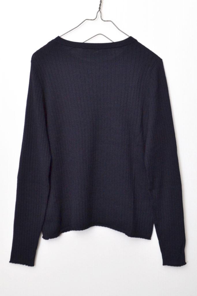ウール シルク 肩 金ボタン クルーネック リブ ニット セーターの買取実績画像