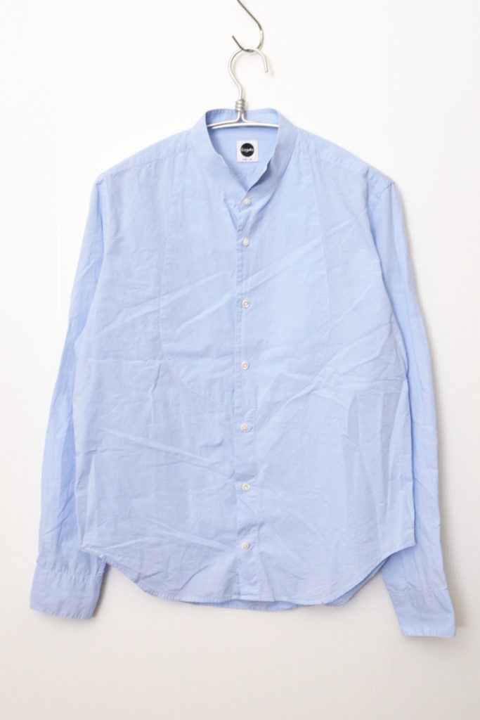 コットンポプリン ウイングカラー ドレスシャツ