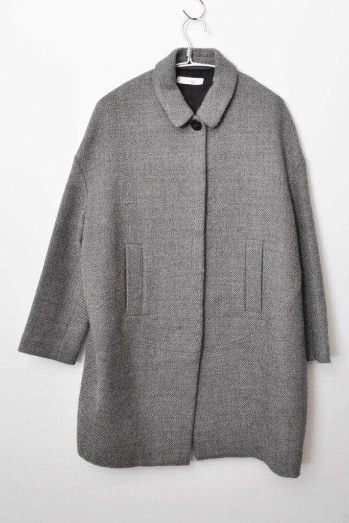 ウール ステンカラー コート
