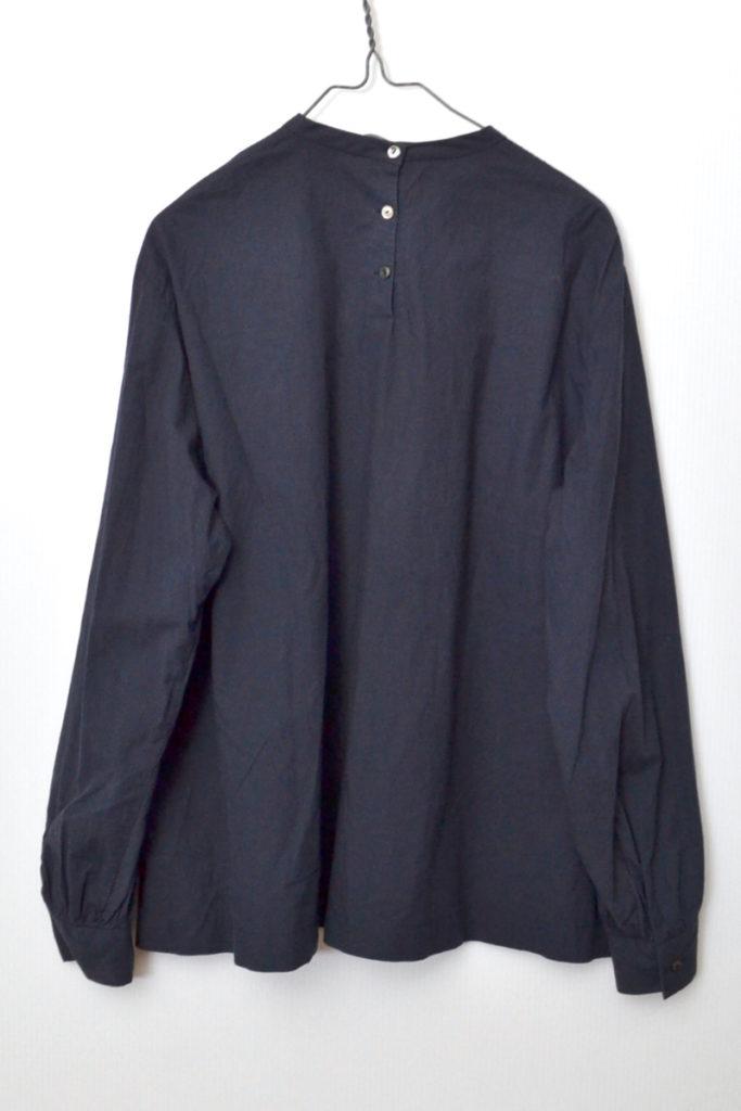 コットン ピンタック スタンドカラー ブラウス シャツの買取実績画像