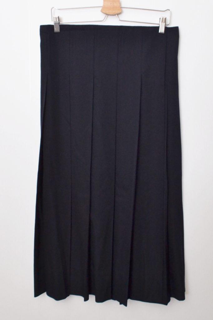 AD2004 04AW/ウールギャバジン ロング ラップスカート