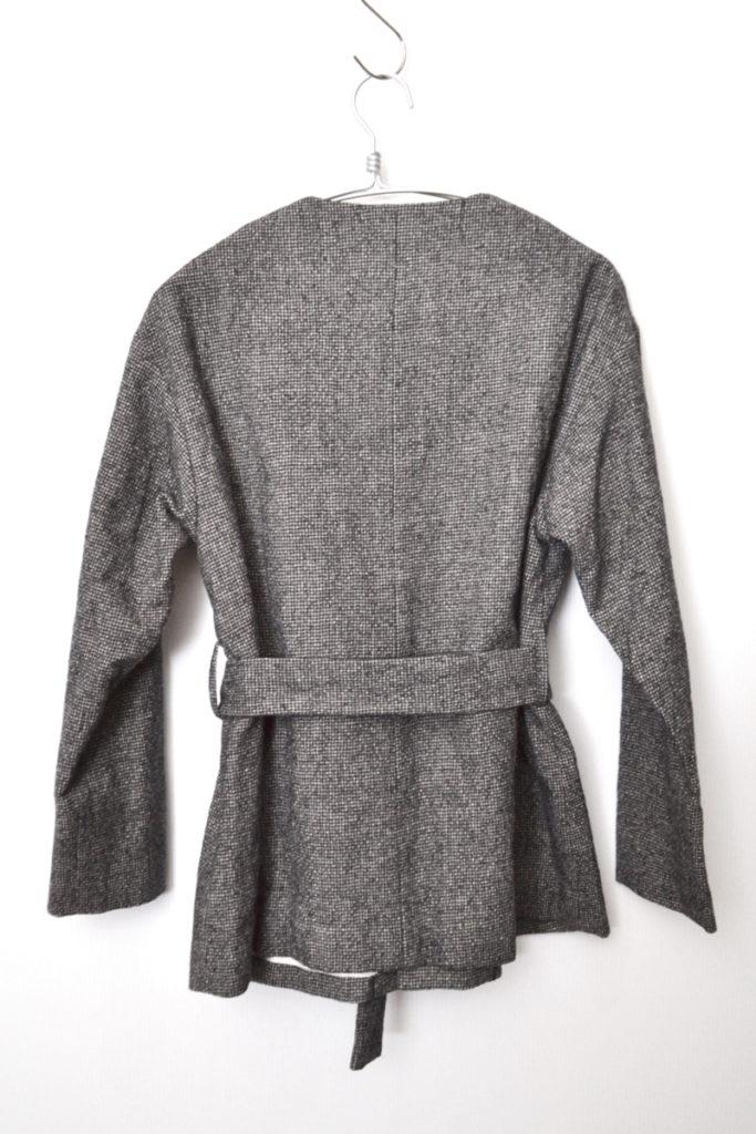 ウール ベルト付き ノーカラー ジャケットの買取実績画像