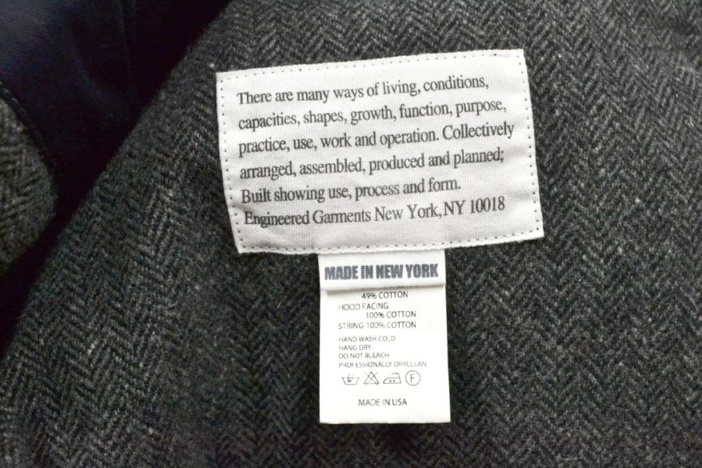 OVER PARKA GREY WOOL HOMESPUN ヘリンボーン オーバーパーカー コートの買取実績画像