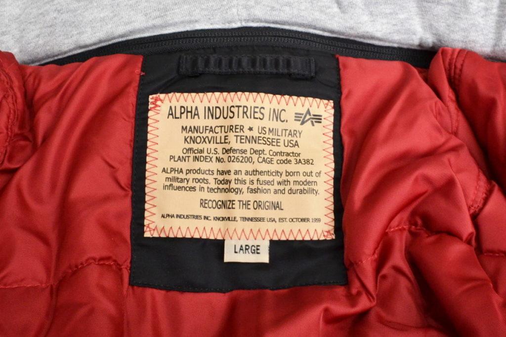 20012-201 ALPHA MA-1 D-TEC TIGHT フード フライトジャケットの買取実績画像