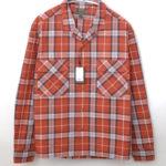OPEN COLLARED SHIRT LONG SLEEVE チェックオープンカラーシャツ