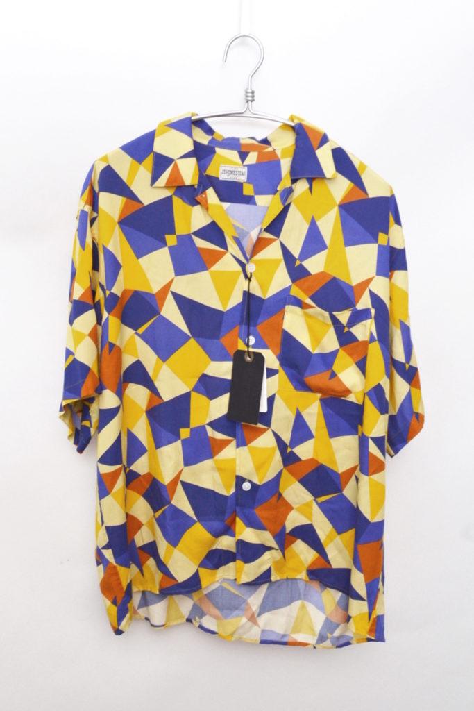 2019SS/ストラクチャーパターンオープンカラーシャツ