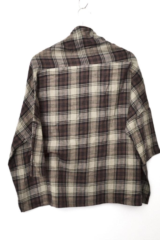 チェック柄 幅広 プルオーバー シャツの買取実績画像