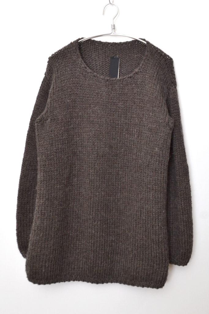 2018AW/Hand Knit Sweater アルパカ混紡 ハンドニットセーター