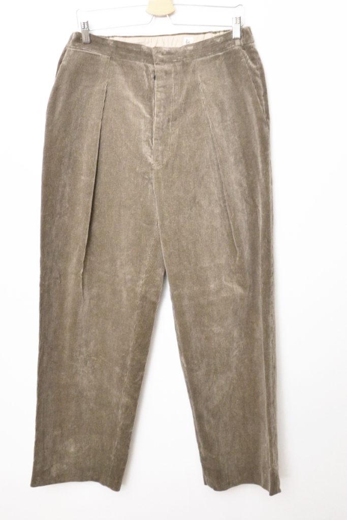 2018AW/Easy Trousers コーデュロイ イージー トラウザー パンツ